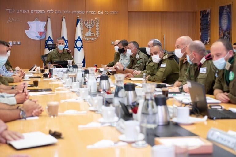 رئيس الأركان الإسرائيلي أفيف كوخافي يترأس جلسة مع قادة عسكريين (الأوروبية)